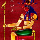 Ancient Egyptian Deity: Horus by Mariaan M Krog Fine Art Portfolio