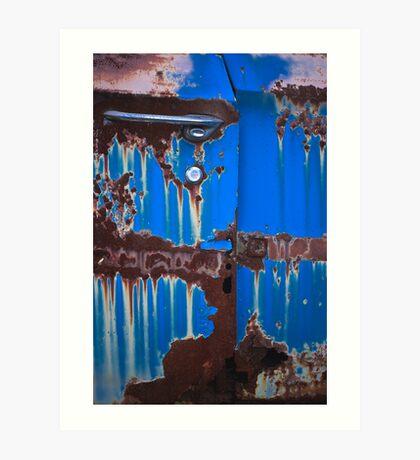 Dripping on Blue Art Print
