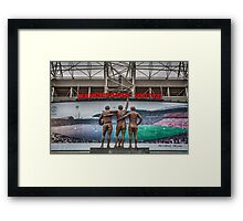 The United Trinity, Old Trafford Framed Print