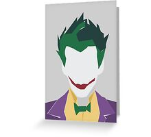 Minimalist Joker Greeting Card