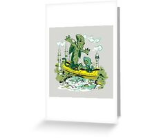 DAGONIN AND CTHULOBBES Greeting Card