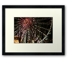 Ferris wheel and christmas tree lights Framed Print