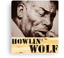 Howlin' Wolf (ink portrait ) Canvas Print