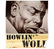 Howlin' Wolf (ink portrait ) Poster