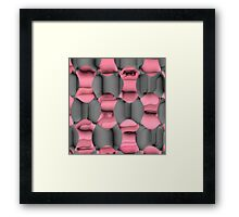 Pink and Gray Abstract Framed Print
