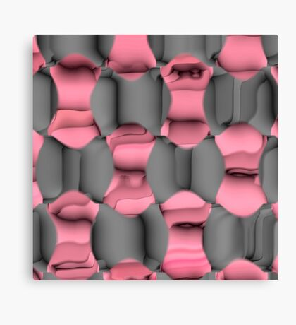 Pink and Gray Abstract Canvas Print