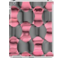 Pink and Gray Abstract iPad Case/Skin