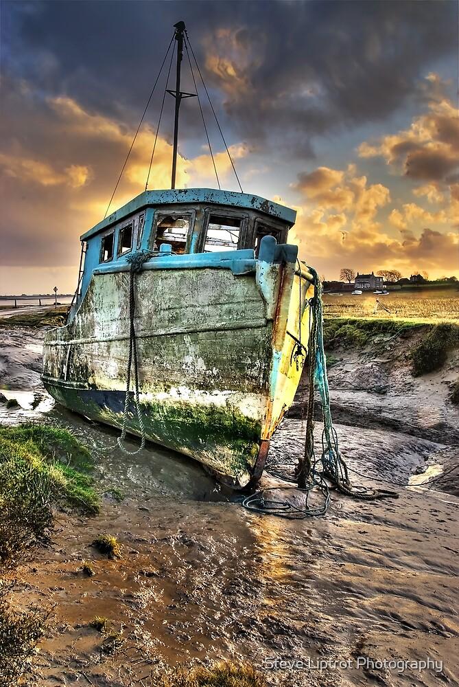 Old Boat at Sunderland Point by Steve  Liptrot