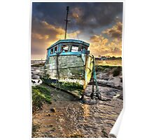 Old Boat at Sunderland Point Poster
