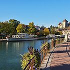 Annecy, lake, boats and castle by Patrick Morand