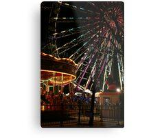 Ferris Wheel and Merry-go-round Metal Print
