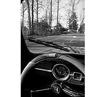 Saturday Drive in Patch Black and White Photographic Print