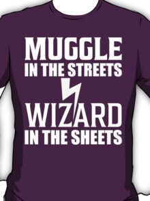Muggle In The Streets Wizard In The Sheets T Shirt T-Shirt