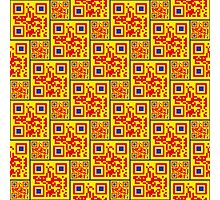 Afro-QR Photographic Print
