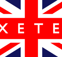 Exeter UK Flag Sticker