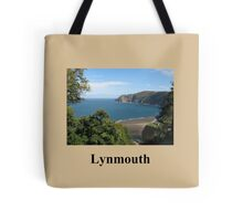 Looking down on Lynmouth  Tote Bag