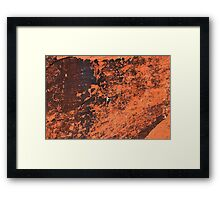 Climber in The Red Rock Canyon National Conservation Area. NV Framed Print