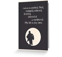 TV Quote - The Prisoner Greeting Card