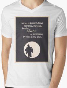 TV Quote - The Prisoner Mens V-Neck T-Shirt