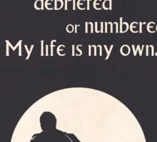 TV Quote - The Prisoner Sticker