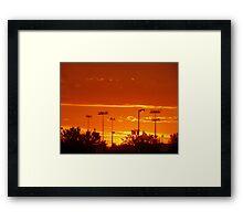 Super Sunset Framed Print