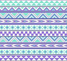 Geometric pattern purple and mint by tjc555