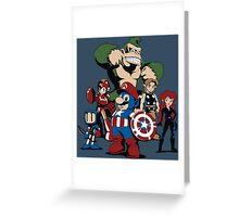 Nintendo Avengers Greeting Card