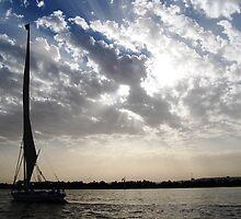 sailing under an expansive sky by Sanchita  Mukherjee