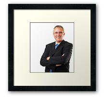 istock_businessman Framed Print