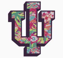 Indiana University Lilly Pulitzer Logo by daw12021996