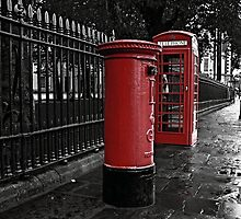 London Phone Box and Royal Mail Postal Box by Claire Doherty