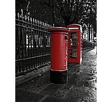 London Phone Box and Royal Mail Postal Box Photographic Print