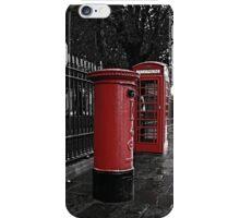 London Phone Box and Royal Mail Postal Box iPhone Case/Skin