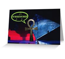 Paul Ankh in concert Greeting Card