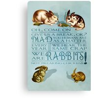 Freaking Rabbits Canvas Print