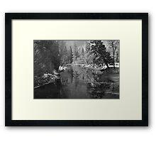 Merced River Winter Reflections Framed Print
