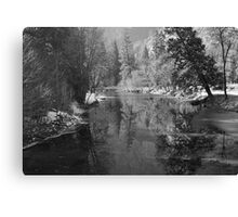 Merced River Winter Reflections Canvas Print