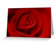 Depth Of Red Greeting Card