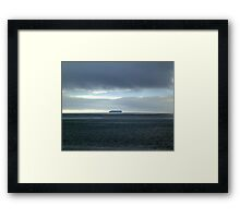 Alone With the Power of Nature Framed Print