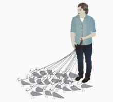 Camerons pet seagulls by Lars