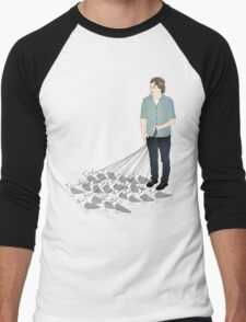 Camerons pet seagulls Men's Baseball ¾ T-Shirt