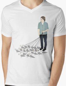 Camerons pet seagulls Mens V-Neck T-Shirt