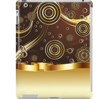 Brown and Gold Background iPad Case/Skin