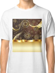 Brown and Gold Background Classic T-Shirt