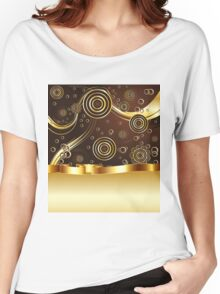 Brown and Gold Background Women's Relaxed Fit T-Shirt