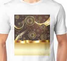 Brown and Gold Background Unisex T-Shirt