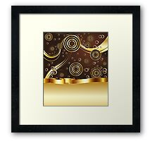 Brown and Gold Background Framed Print