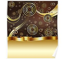 Brown and Gold Background Poster
