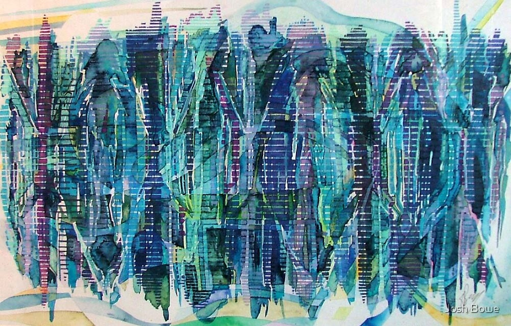 Water-Lined Abstract Study by Josh Bowe