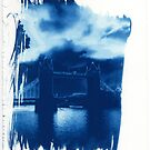 Tower Bridge London Cyanotype Print by willb